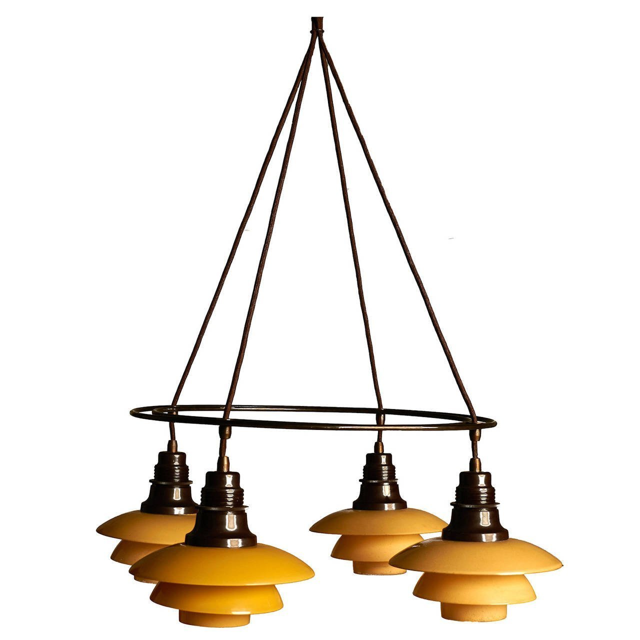 Large Double Ring Chandelier At 1stdibs: Poul Henningsen Double Ring Chandelier