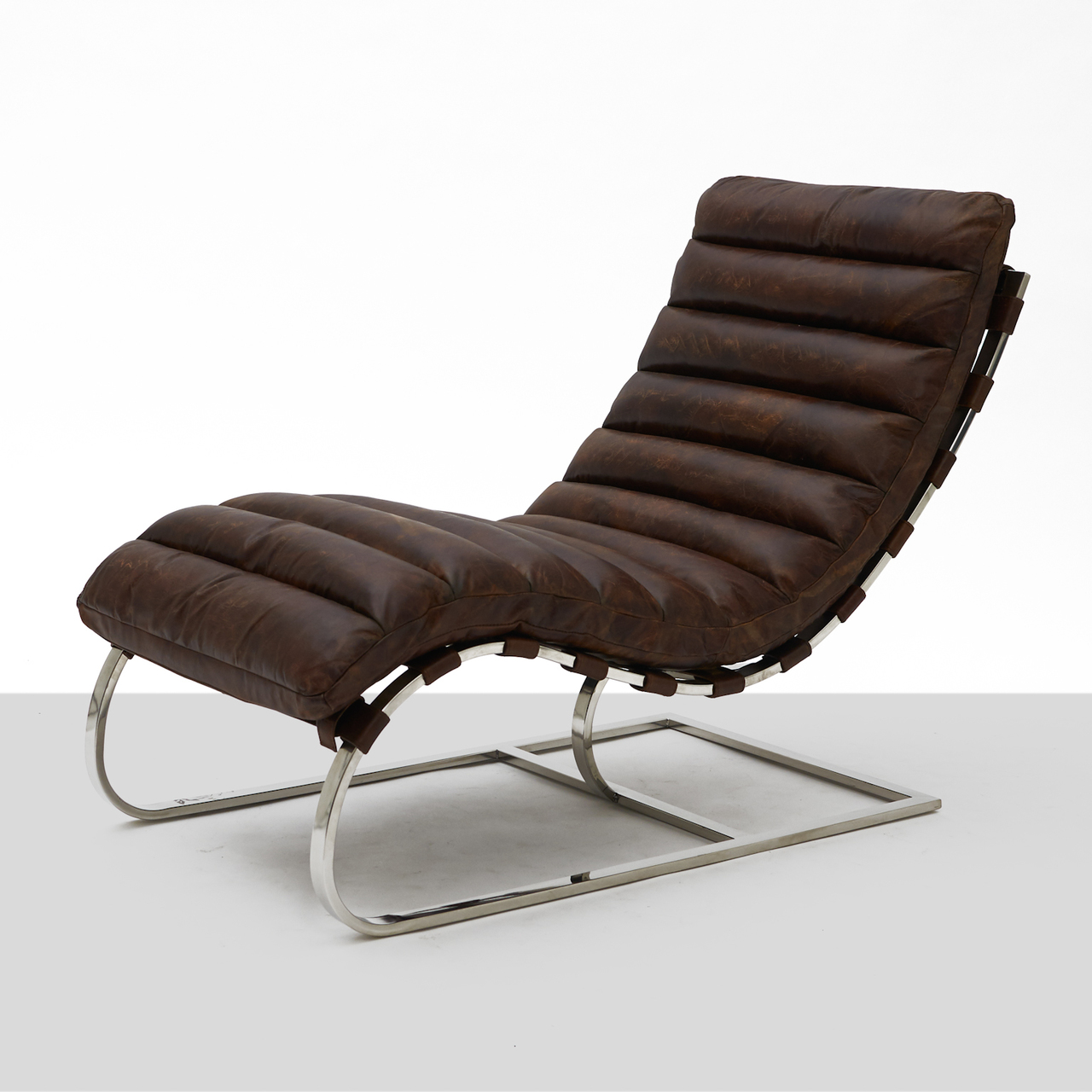 Cantilevered Chaise Lounge Attributed To Mies Van Der Rohe