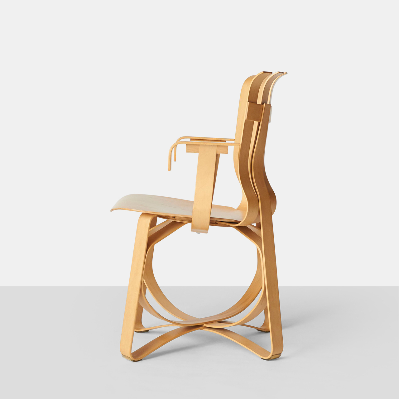 Hat Trick Armchair By Frank Gehry For Knoll Almond And