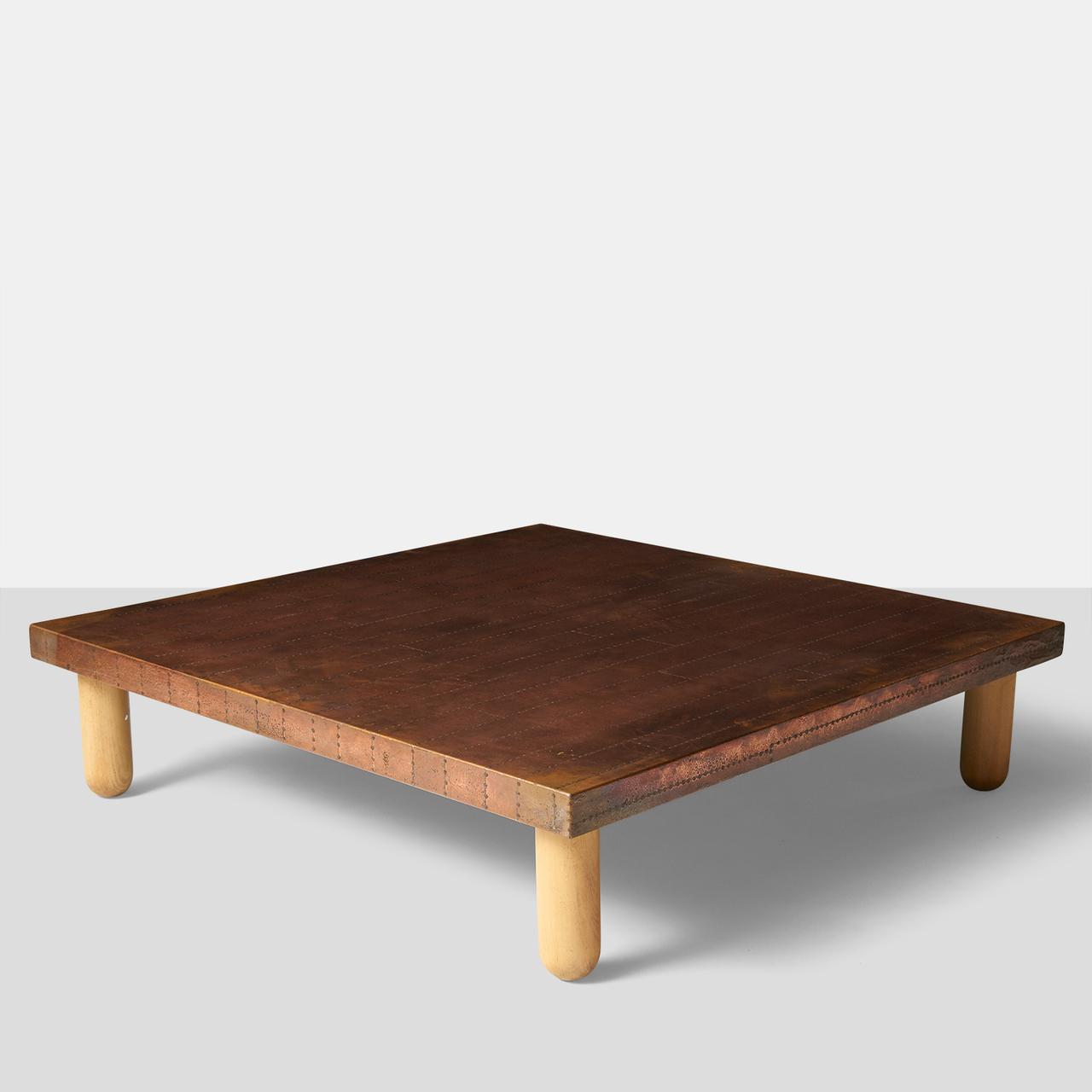 Copper Coffee Table By Lorenzo Burchiellaro Almond And Company